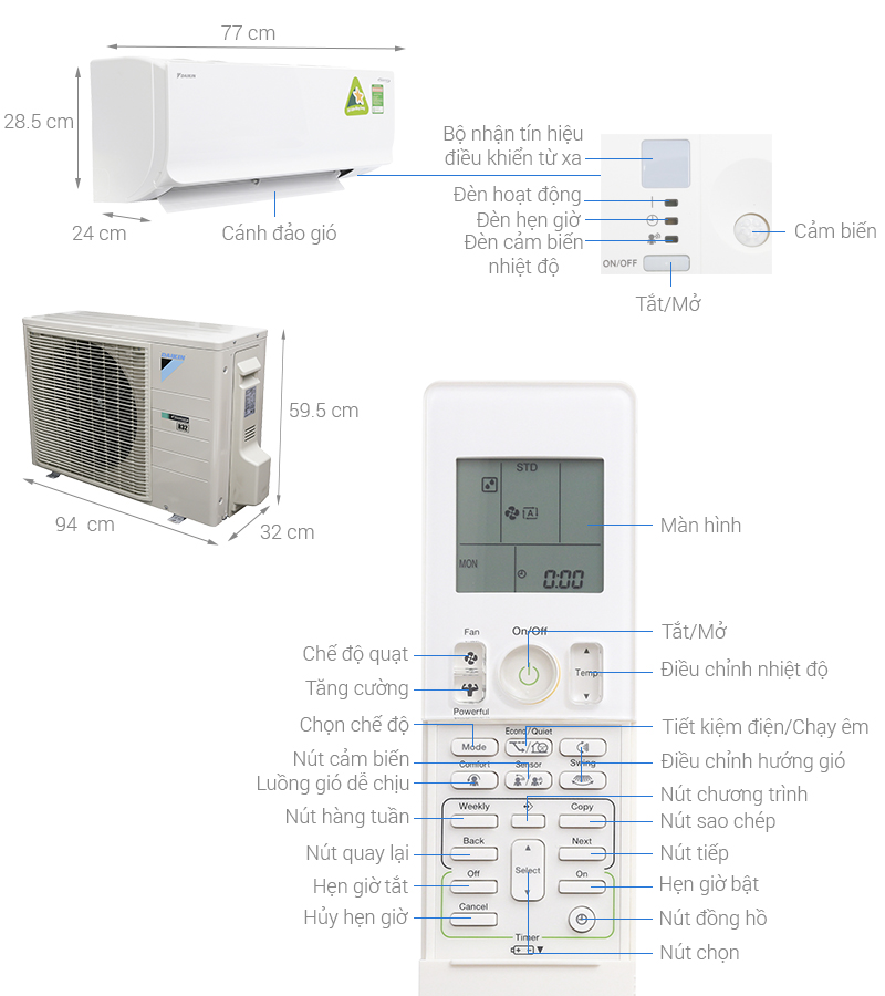 may lanh daikin ftkm35svmv